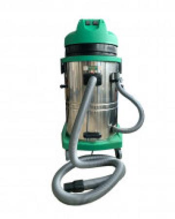 Aspirator industrial umed - uscat cu doua motoare 60 L