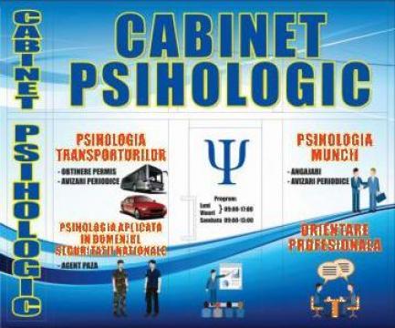 Aviz psihologic pentru angajare, permis de conducere