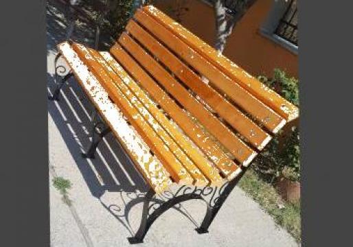 Banca de parc cu lemn de brad