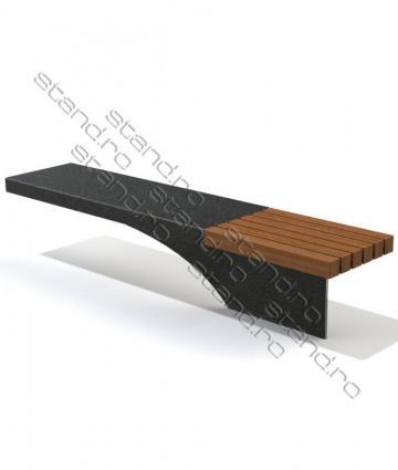 Banca metal si lemn pentru parcuri 0261