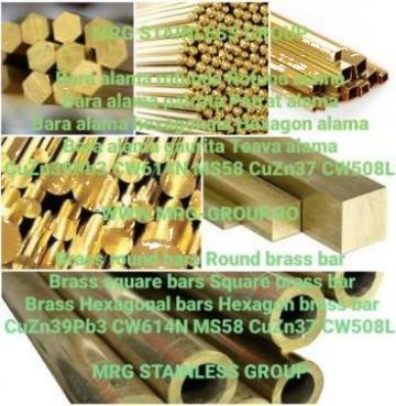 Bara alama patrata 30x30 patrat alama Brass square aluminiu