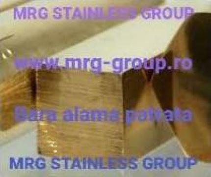 Bara alama patrata 41x41mm rectangulara aluminiu, cupru