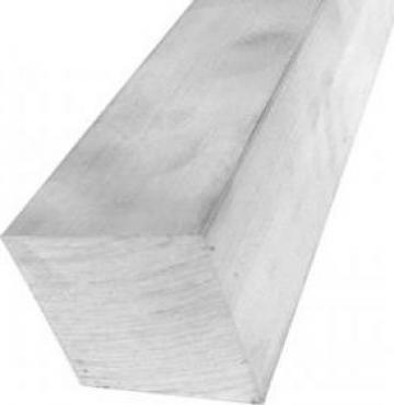 Bara aluminiu patrata 50x50mm EN 6060 T6 AlMgSi1 inox alama