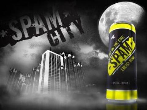 Bautura energizanta Spam