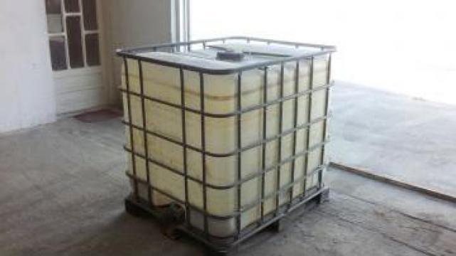 Bidon / Rezervor IBC 1000 L cadru + palet metalic/plastic
