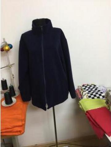 Bluza polar bleumarin cu fermoar