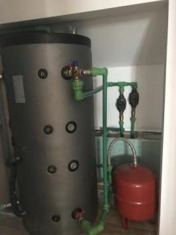 Boiler cu aport solar pentru incalzire