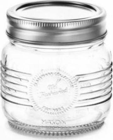 Borcan sticla Old Fashioned 0,25 L cu capac metalic