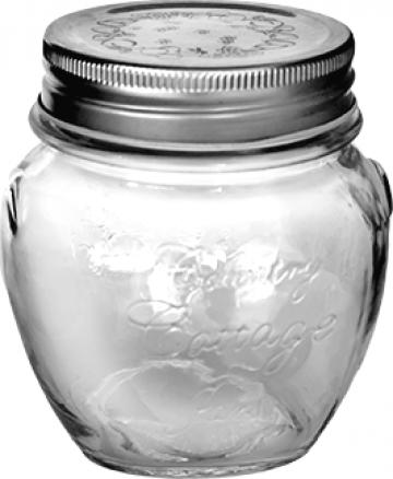 Borcan sticla cu capac 520ml