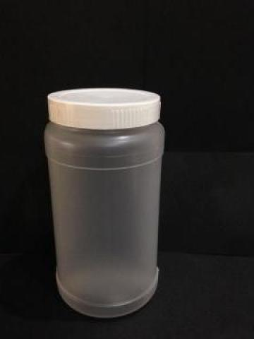 Borcan transparent/alb 500ml cu capac fi 66 alb/galben