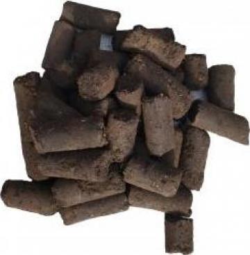 Brichete carbune lignit cilindric pentru centrale si sobe