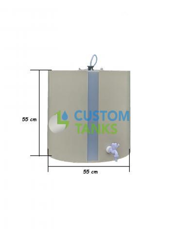 Butoi polipropilena orizontal 200 litri