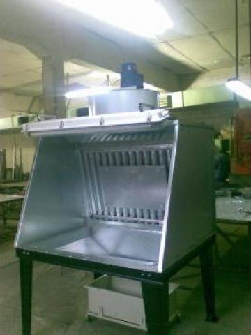 Cabina pentru vopsire lichida
