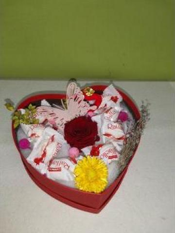 Cadou trandafir criogenat si Raffaello 0100