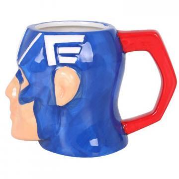 Cana ceramica 3D Captain America - 410 ml