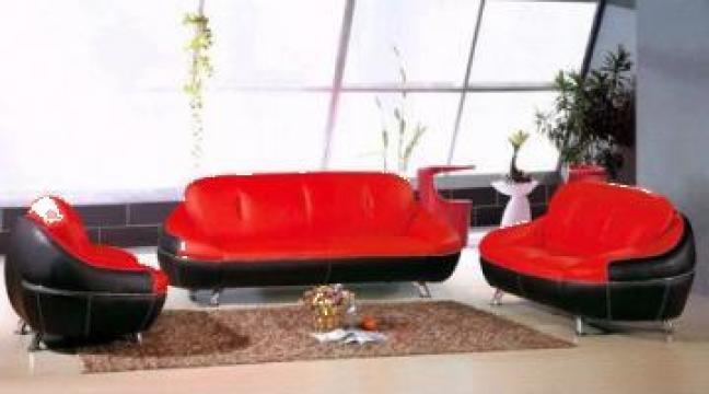 Canapea de piele moderna, mobilier de agrement, sofa