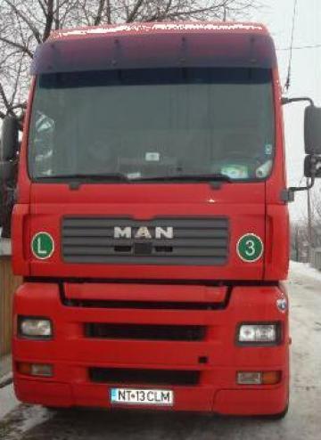 Cap tractor MAN TGA XXL ( an 2003 ) + Semiremorca Schmitz