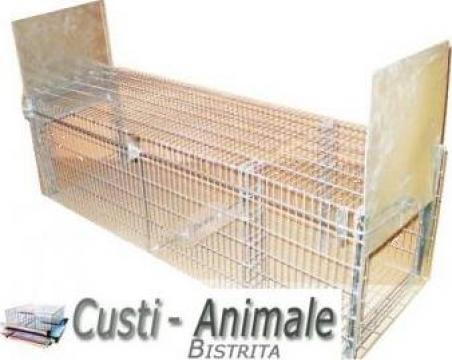 Capcana animale cu doua intrari 180x50x60cm