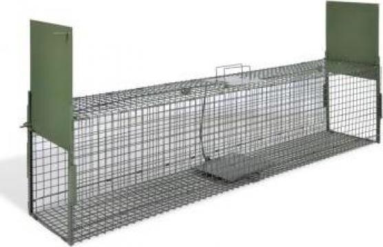Capcana pentru animale cu 2 intrari 150 x 30 x 30 cm