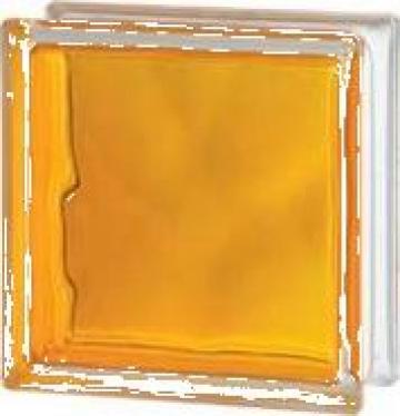 Caramida de sticla colorata prin injectare galben