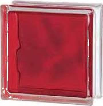 Caramida de sticla colorata prin injectare rosu