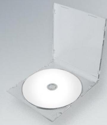 Carcasa CD Slim spate transparent