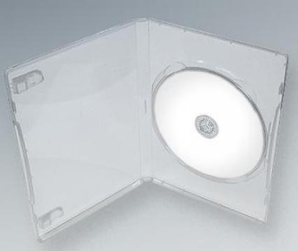 Carcasa DVD Slim Transparenta
