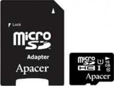 Card de memorie Micro SDHC UHS-I 16GB Clasa 10 cu adaptor SD
