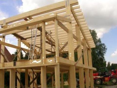 Case lemn, american