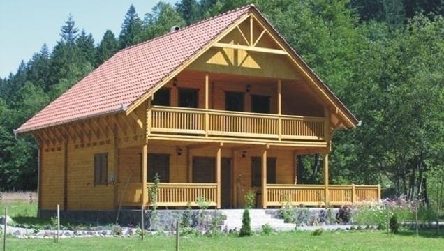 Casuta camping din lemn fara terasa si pardoseala Sovata