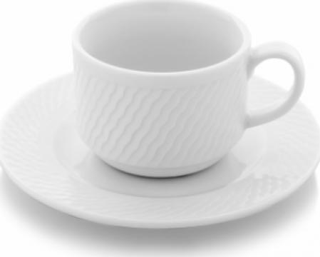 Ceasca cu farfurioara portelan 230cc ceai colectia Panama