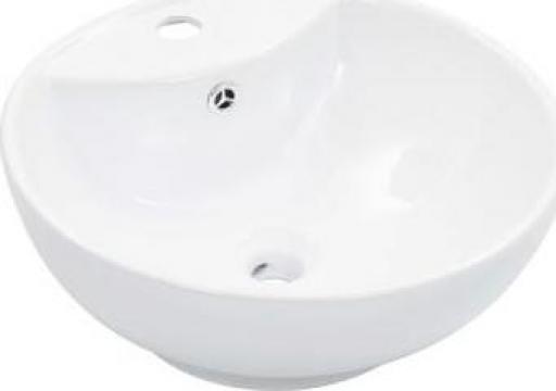 Chiuveta cu preaplin, alb, 46,5 x 18 cm, ceramica