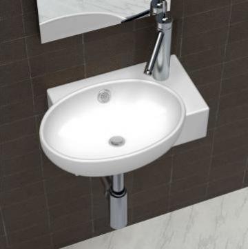Chiuveta din ceramica pentru baie, alb