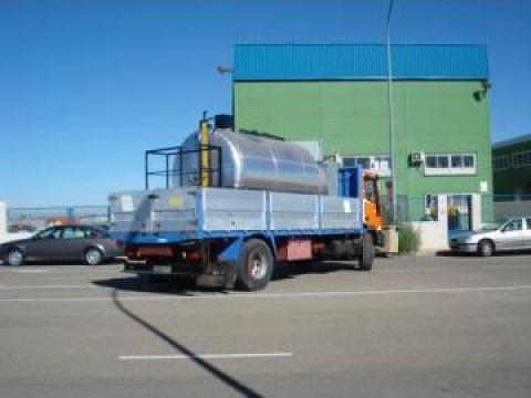 Cisterna mixta de emulsie bituminoasa (bitum,apa,motorina)