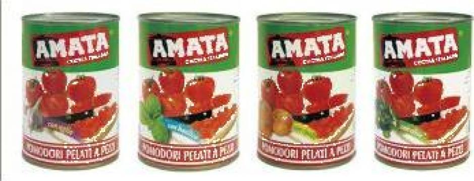 Conserva pulpa rosii cu arome Amata