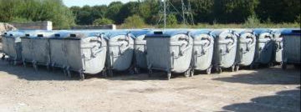 Containere metalice 1100 litri second hand