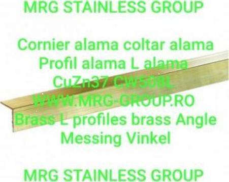 Cornier alama 15x15x1.5 CuZn37 Profil L coltar aluminiu inox