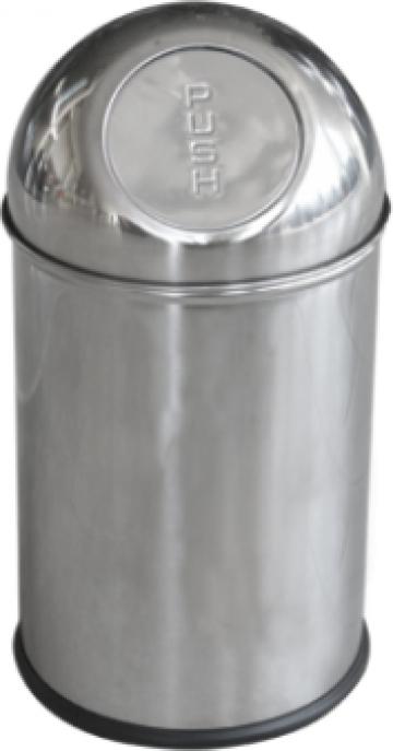 Cos cromat de gunoi 5 litri Push