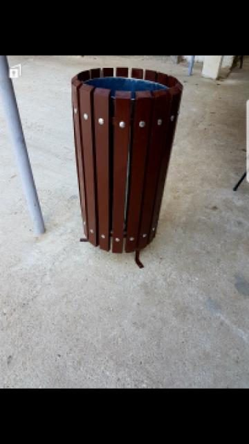 Cos de gunoi din lemn de fag de 60 cm