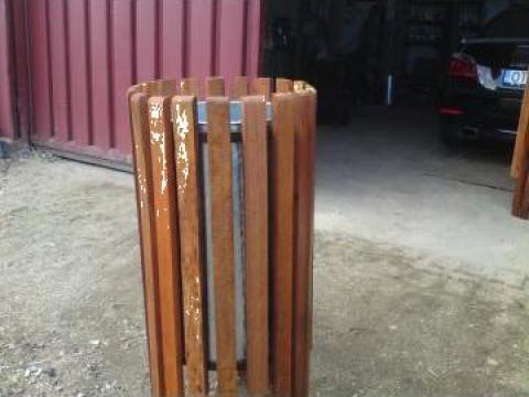 Cos gunoi din lemn de fag