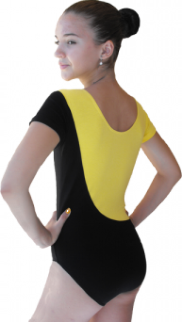 Costum gimnastica bicolor