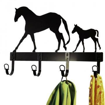 Cuier de perete pentru haine - motiv cai