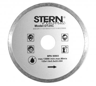 Disc diamantat continuu taiere umeda Stern 125 mm