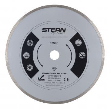 Disc diamantat continuu taiere umeda Stern 230 mm