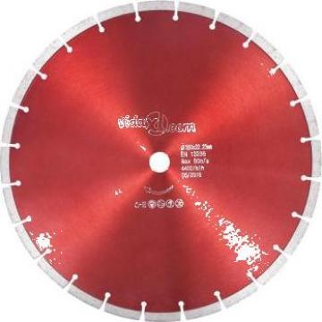 Disc diamantat de taiere, otel, 350 mm