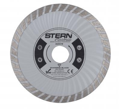Disc diamantat taiere umeda si uscata Stern 125 mm