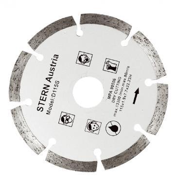 Disc diamantat taiere uscata Stern 115 mm