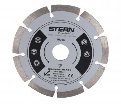 Disc diamantat taiere uscata Stern 125 mm
