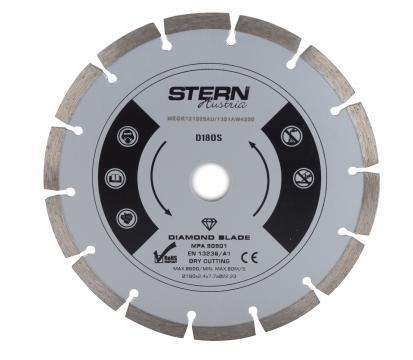 Disc diamantat taiere uscata Stern 180 mm