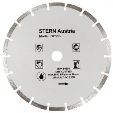 Disc diamantat taiere uscata Stern 230 mm